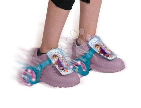 Dětské kolečkové brusle - Klip na boty s kolečky a světlem Frozen Mondo ložiska 608ZZ, PVC kolečka 68 mm průměr od 5 let_1