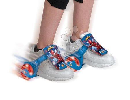 Spiderman - Role atașabile pentru pantofi cu luminițe Spiderman Mondo rulmenți 608ZZ, roți PVC diametru de 68 mm_1