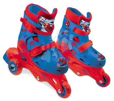 Rolerji inline 3 kolesni Spiderman Mondo z dvojno funkcijo PVC koleščki 29-32 velikost