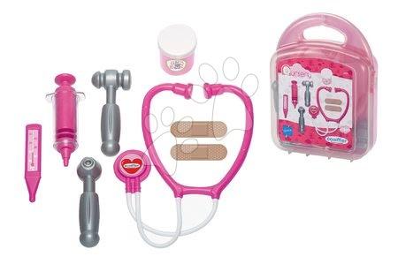 Medicinska kolica za djecu - Medicinski kovčežić za lutke Écoiffier s dodacima ružičasti od 18 mjes