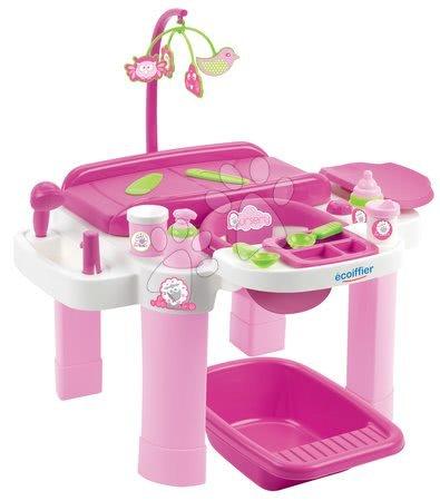Domčeky pre bábiky - Prebaľovací stôl pre bábiky Nursery Écoiffier s kúpeľňou a jedálenským kútikom od 1 - 5 rokov