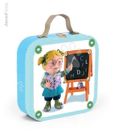 Puzzle Učiteľka Lisa Janod v kufríku 6-9-12-16 dielov od 3 - 6 rokov