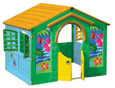 Detský domček Farm House PalPlay s motýľom modro-zelený