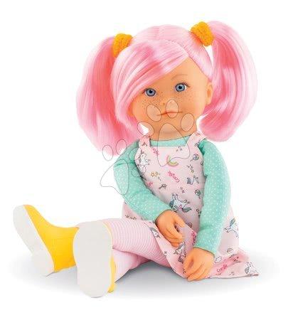 Bábiky od 3 rokov - Bábika Praline Rainbow Dolls Corolle s hodvábnymi vlasmi a vanilkou ružová 38 cm od 3 rokov