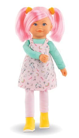 Bábiky od 3 rokov - Bábika Praline Rainbow Dolls Corolle s hodvábnymi vlasmi a vanilkou ružová 38 cm od 3 rokov_1