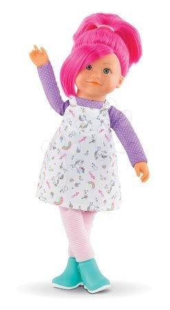 Bábiky od 3 rokov - Bábika Nephelie Rainbow Dolls Corolle s hodvábnymi vlasmi a vanilkou ružová 38 cm od 3 rokov_1