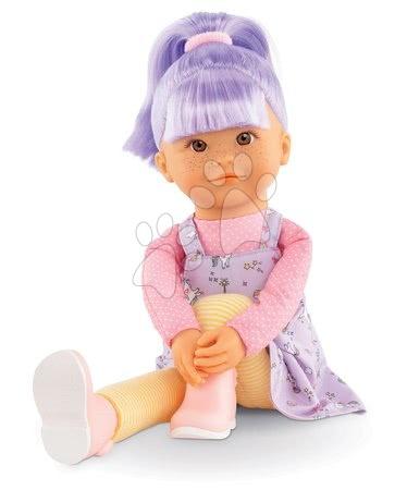 Bábiky od 3 rokov - Bábika Iris Rainbow Dolls Corolle s hodvábnymi vlasmi a vanilkou fialová 38 cm od 3 rokov