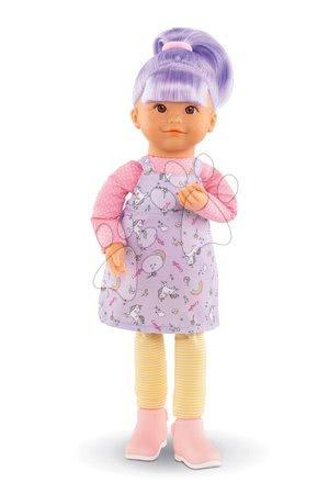 Bábiky od 3 rokov - Bábika Iris Rainbow Dolls Corolle s hodvábnymi vlasmi a vanilkou fialová 38 cm od 3 rokov_1