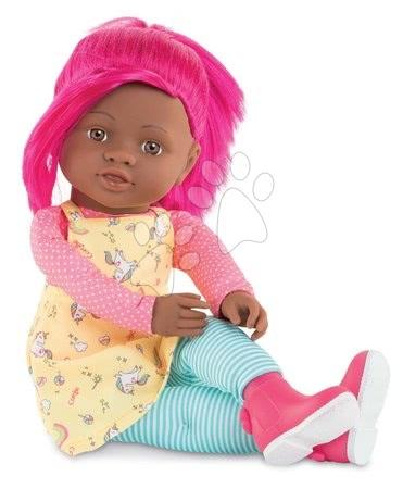 Bábika Céléna Rainbow Dolls Corolle s hodvábnymi vlasmi a vanilkou cyklaménová 38 cm