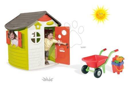 Set detský domček Jura Lodge Smoby a fúrik s vedro setom od 2 rokov
