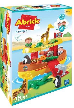 Stavebnice a kocky - Stavebnica Abrick Noemova Archa Écoiffier s 12 zvieratkami a 2 postavičkami od 18 mes_1