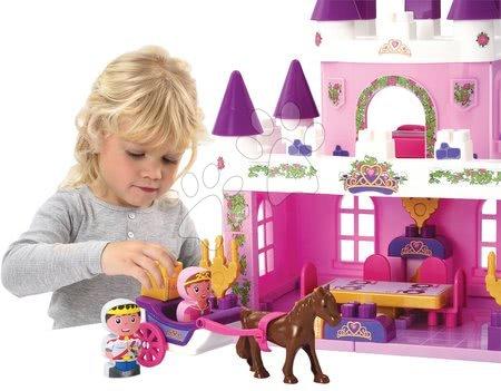 Stavebnice a kocky - Stavebnica zámok s princeznou Abrick Écoiffier a princ s kočom a nábytkom od 18 mes_1
