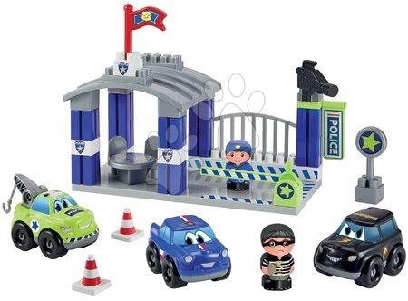 Építőjátékok - Építőjáték rendőrállomás Abrick Écoiffier 3 autóval és 2 figurával 18 hó-tól