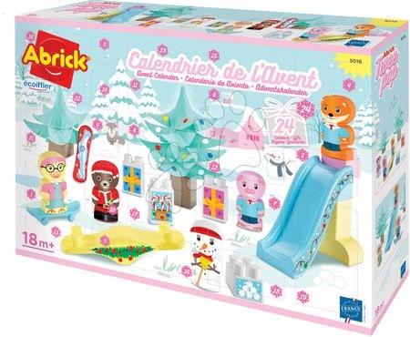 Építőjátékok - Építőjáték Adventi naptár Twee Pop Abrick Écoiffier 24 kiegészítővel és csúszdával 18 hó-tól