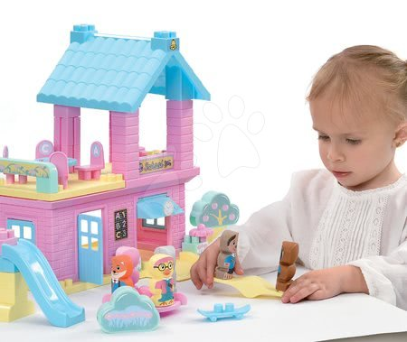 Stavebnice a kocky - Stavebnica Škola Twee Pop Abrick Écoiffier s poschodovou budovou a 6 postavičkami zvieratiek od 18 mes_1