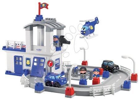 Stavebnice policejní stanice se silnicí Abrick Écoiffier s 2 auty a 3 figurkami od 18 měsíců