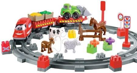 Építőjátékok - Építőjáték Vonat állatkákkal Abrick Écoiffier sínekkel és autóval 18 hó-tól