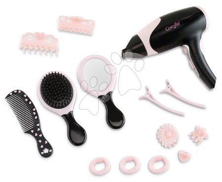 Dodatki za punčke in dojenčke - Sušilnik za lase Hairstyling set Les Trendies Corolle za dojenčke s 14 dodatki elektronski od 3 leta