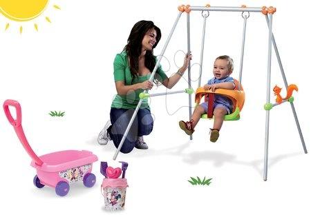 Set houpačka Minnie Smoby a kolečko s kbelík setem Minnie od 6 měsíců