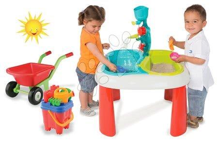 Set detský stôl Voda&Piesok 2v1 Smoby a fúrik s vedro setom od 18 mesiacov