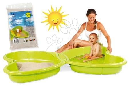 Nisipare pentru copii - Set nisipar Fluture Smoby şi nisip igienic pentru jucat 15 kg de la 24 luni
