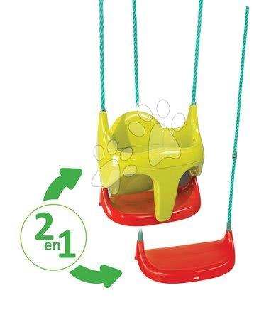Gyerekhinták - Hinta Bebe 2in1 Smoby biztonsági kerettel, felakasztható, műanyag 18 hó-tól