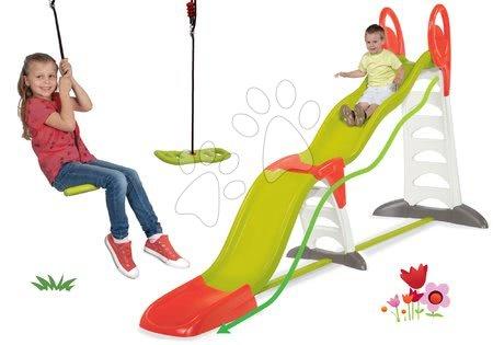 Skluzavky s houpačkou - Set skluzavka Toboggan Super Megagliss 2v1 Smoby a dárek houpačka Activity Swing