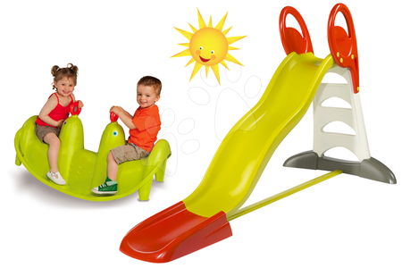 Set šmykľavka pre deti Toboggan XL Smoby dĺžka 2,3 m a hojdačka Tuleň