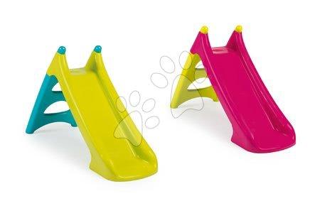 Tobogane pentru copii - Set două tobogane Toboggan XS Smoby 90 cm colorat de la 24 luni