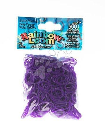 Rainbow Loom eredeti transzparens gumik 600 darab sötétlila 6 évtől