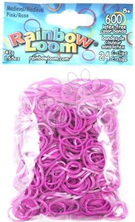 Rainbow Loom originální gumičky středověké 600 kusů růžové od 6 let