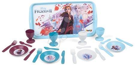 Riadíky a doplnky kuchynky - Jedálenská tácka s obedovou súpravou Frozen 2 Disney Smoby a 21 doplnkov