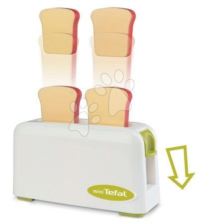 Spotřebiče do kuchyňky - Set toaster Mini Tefal Smoby kávovar Tefal, mixér Tefal a čajový set Cheef Cook_1