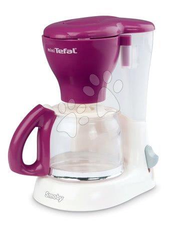 Spotřebiče do kuchyňky - Snídaňový set s kávovarem a toasterem Mini Tefal Smoby bílo-bordový_1