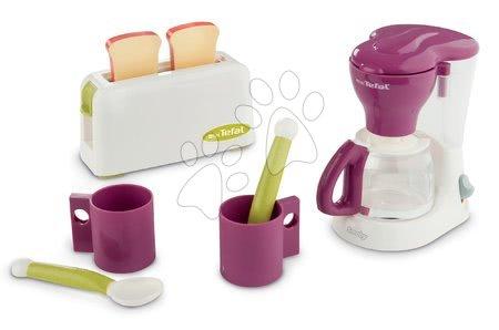 Spotřebiče do kuchyňky - Toaster s kávovarem Tefal Smoby s dvěma šálky a lžičkami