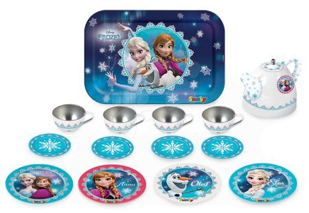 Smoby súprava na čaj z plechu Frozen 310512 modro-biela