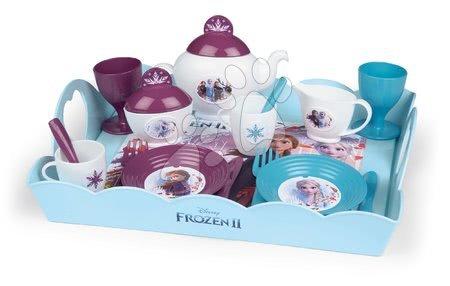 Riadíky a doplnky kuchynky - Servírovacia tácka Frozen 2 Disney XL Tea Time Smoby so 17 doplnkami
