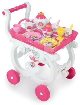 Servírovací vozík s čajovou soupravou Disney Princezny Smoby 17dílný růžový