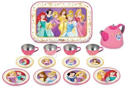 Princeske - Čajni servis Prineske Disney Smoby kovinski na pladnju rožnat 14