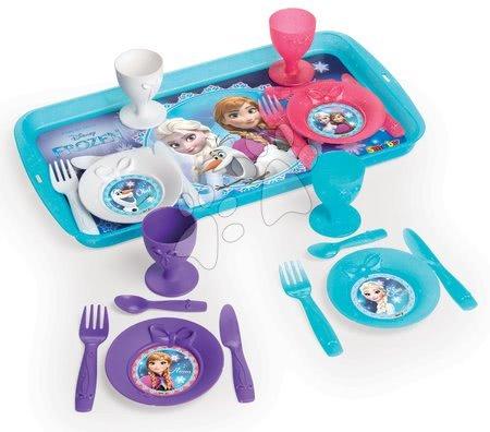Jedálenská tácka s obedovou súpravou Frozen Disney Smoby s 21 doplnkami 310567