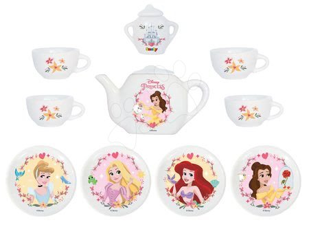 Set pentru ceai din porțelan Prințesele Smoby 12 piese