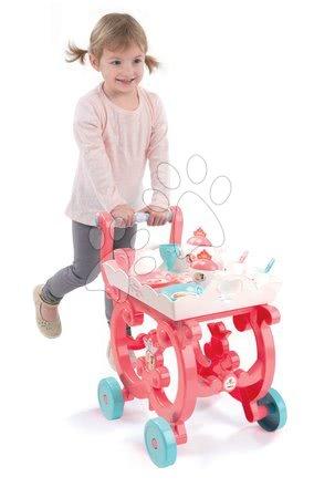 Princese - Poslužna kolica Princeze XL Tea Trolley Smoby ružičasta sa 17 dodataka_1