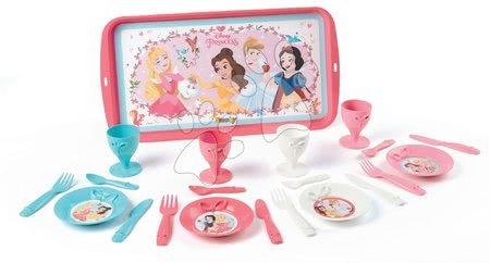 Princese - Pladanj za posluživanje s tanjurićima Princeze Smoby ružičasti, 21 dodatak