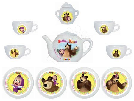 Mása és a medve - Porcelán teakészlet Mása és a medve Smoby 12 darabos