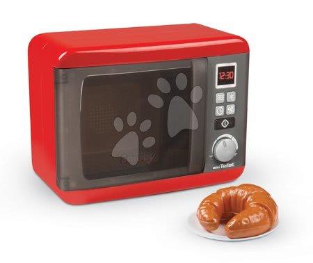 Spotřebiče do kuchyňky - Set mikrovlnka elektronická Tefal Elec Micro Wave Smoby a topinkovač s vajíčky vaflovač s vaflemi a kávovar s kapslemi_1