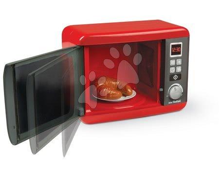 Spotřebiče do kuchyňky - Set mikrovlnka elektronická Tefal Elec Micro Wave Smoby a kávovar Rowenta s toustovačem a tlakovým hrncem_1