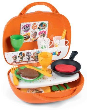 Obyčejné kuchyňky - Kuchyňka v kufříku 44 Cats Smoby se 17 doplňky