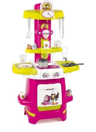 Mása és a medve - Játékkonyha Mása és a medve Smoby kávéfőzővel 22 kiegészítővel 18 hó-tól