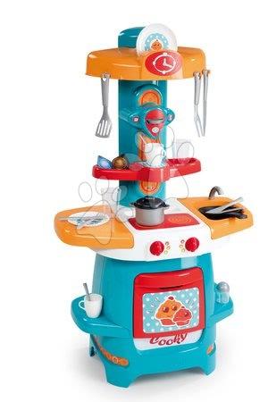 Kuchynka pre deti Cooky Smoby s krídelkami a 22 doplnkami od 18 mesiacov tyrkysová