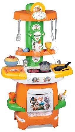 Obyčejné kuchyňky - Kuchyňka 44 Cats Cooky Smoby s otevíratelnými křidélky a 24 doplňky od 18 měsíců